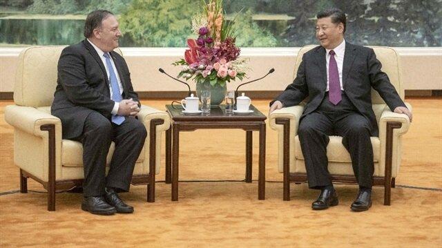 Çin Devlet Başkanı Xi Jinping, Pekin'de ABD Dışişleri Bakanı Pompeo'yi kabul etti.