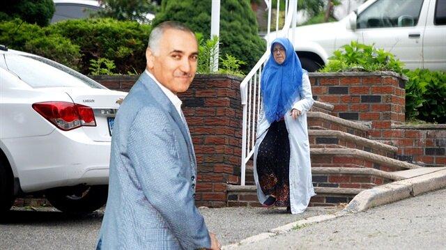 Darbe girişiminin kilit ismi firari Adil Öksüz'ün eşi Aynur Öksüz, ABD'de görüntülendi.
