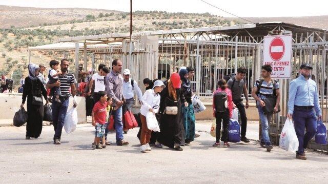 125 bin Suriyeli bayrama gitti