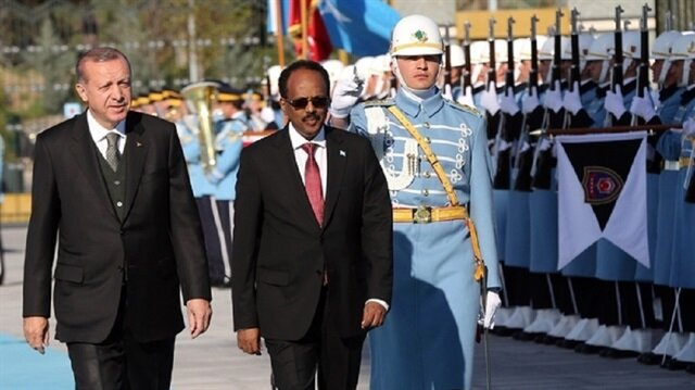 الرئيس التركي يتبادل التهاني بعيد الفطر مع نظيره الصومالي