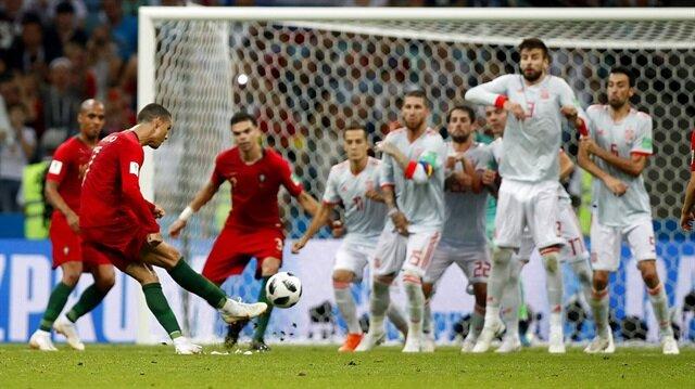 Ronaldo şov yaptı dev maç nefesleri kesti (Portekiz 3-3 İspanya)