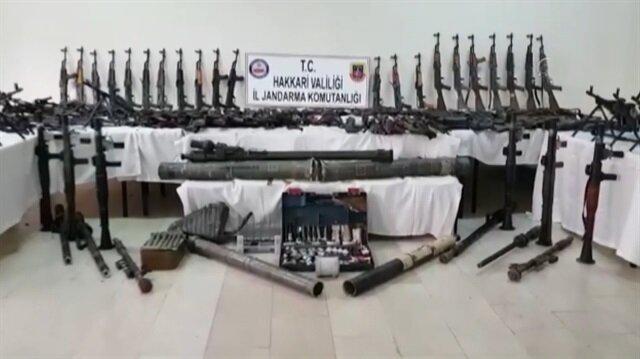 PKK'nın son zamanlarda ele geçirilen en büyük cephaneliği