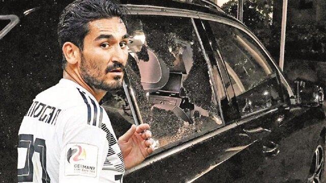 Türk kökenli futbolcu İlkay Gündoğan'ın aracına Köln kentinde kimliği belirsiz kişilerce saldırı düzenlendi. Araç ağır hasar aldı.