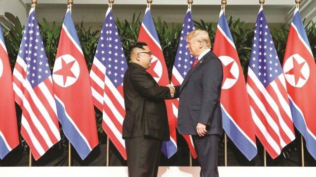 ABD Başkanı Donald Trump ile Kuzey Kore Lideri Kim Jong Un