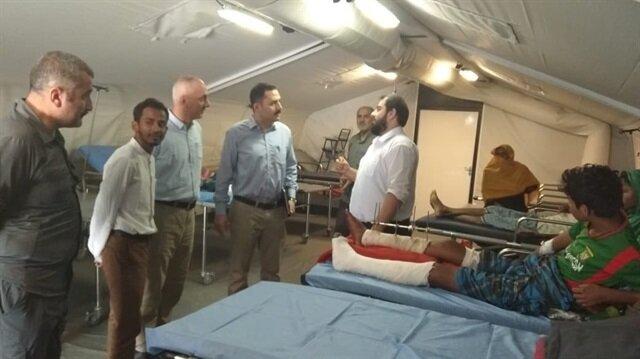 وفد تركي يزور مشفى ميدانيا أقامته