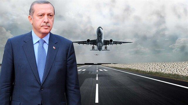 Erdoğan'ın uçağının ineceği tarih belli oldu