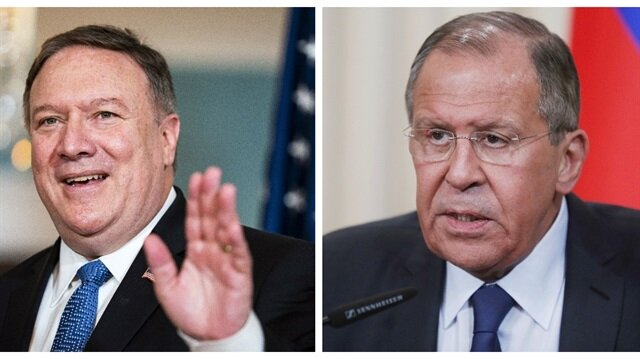 Image result for Foreign Minister Sergei Lavrov and U.S. Secretary of State Mike Pompeo