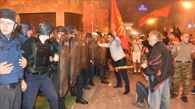 Hundreds protest Greece-Macedonia name deal in Skopje