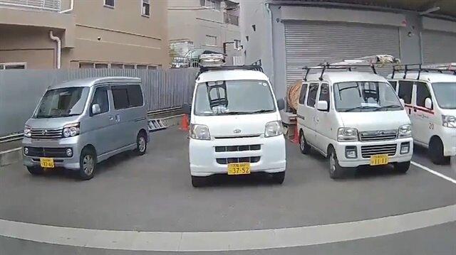 Deprem anı kamerada