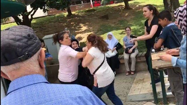 CHP standında şehit annesine çirkin saldırı