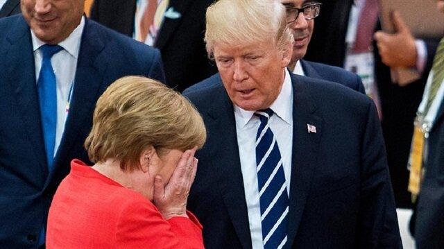 Trump Merkel'e seslendi: Hükümetin sallantıda!