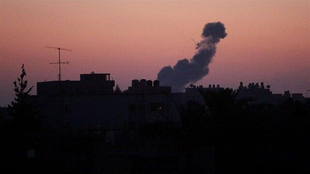 İşgalci İsrail'den Gazze sınırına roketli saldırı