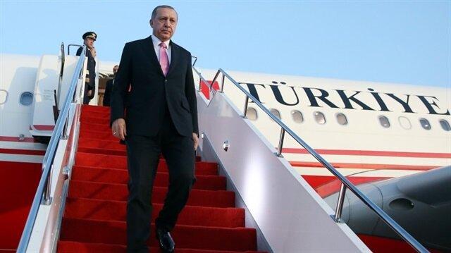 Erdoğan'ı taşıyan uçak tarihe geçecek iniş yapacak