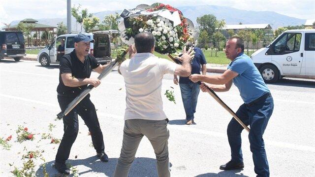 Şehit cenazesinde<br>CHP'ye tepki
