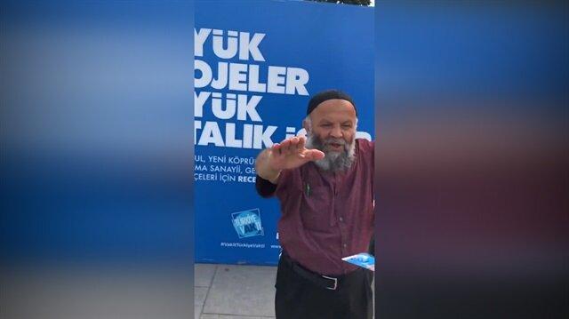 CHP'li gençlerden AK Partili amcaya aşağılık hareket!