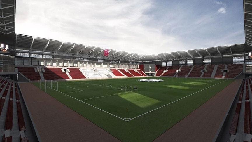 Yeni stadın tasarlanan görüntüsü.