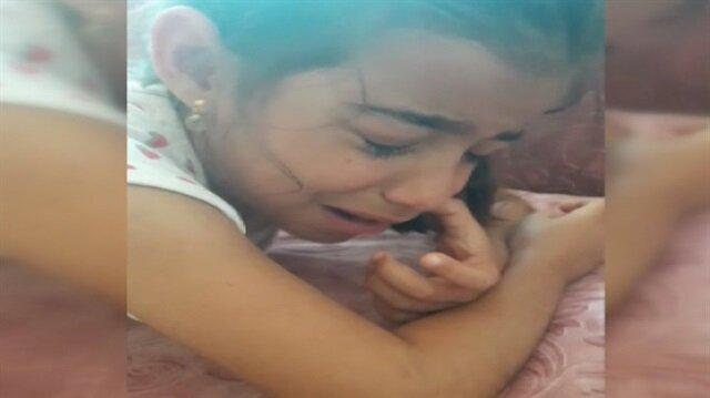 Mitinge gidemediği için ağlayan kız sosyal medyayı salladı