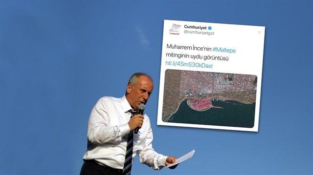 Cumhuriyet'ten skandal tweet: Maltepe diye Yenikapı'yı paylaştılar