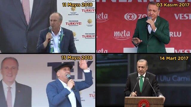 Muharrem İnce de Tayyip Erdoğan'ın izinden gidiyor