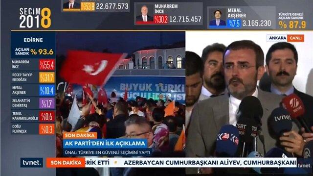 AK Parti'den seçimlere ilişkin ilk açıklama