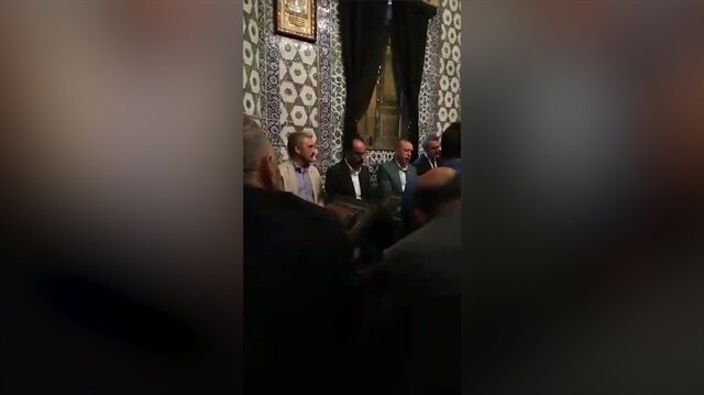 Cumhurbaşkanı Erdoğan Eyüp Sultan'da Kur'an-ı Kerim okudu
