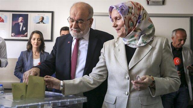 Saadet Partisi Genel Başkanı ve Cumhurbaşkanı Adayı Temel Karamollaoğlu.