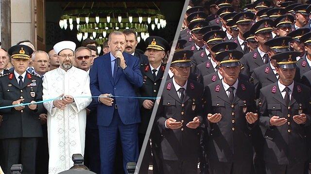 Erdoğan Jandarma Akademisi Camii'nin açılış törenine katıldı