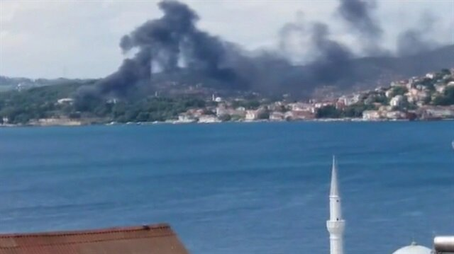 Beykoz'da yangın