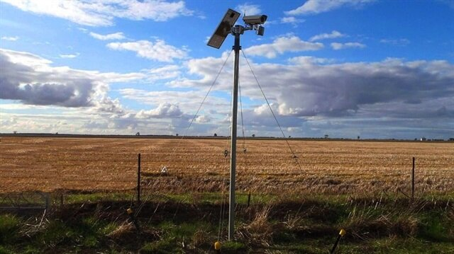 Güneş enerjisi destekli ve internet bağlantılı güvenlik kamerası