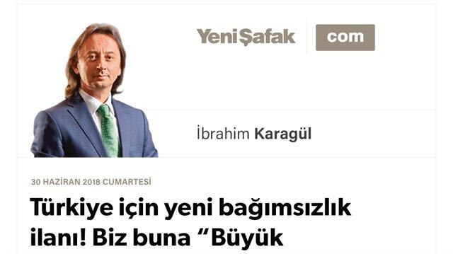 """Türkiye için yeni bağımsızlık ilanı! Biz buna """"Büyük Yürüyüş"""" diyoruz.."""