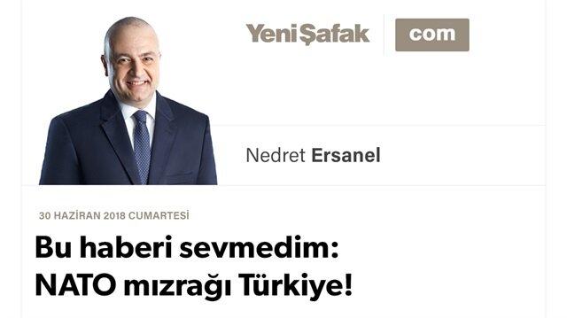 Bu haberi sevmedim: NATO mızrağı Türkiye!