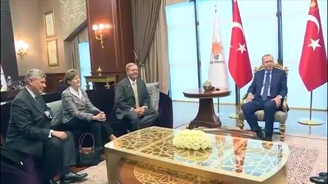 Cumhurbaşkanı Erdoğan, ABD'li senatörleri kabul etti