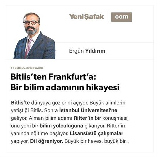 Bitlis'ten Frankfurt'a: Bir bilim adamının hikayesi