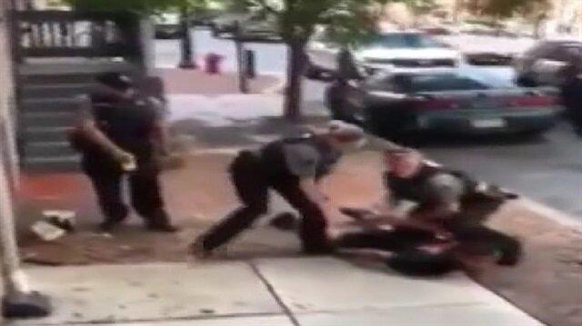 Yine ABD polisi yine şiddet!