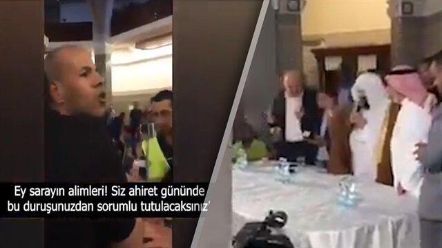 Kabe imamını şoke eden protesto: Ey Amerika'nın kölesi!