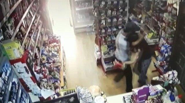 Hırsızı kavanozla püskürten market çalışanı