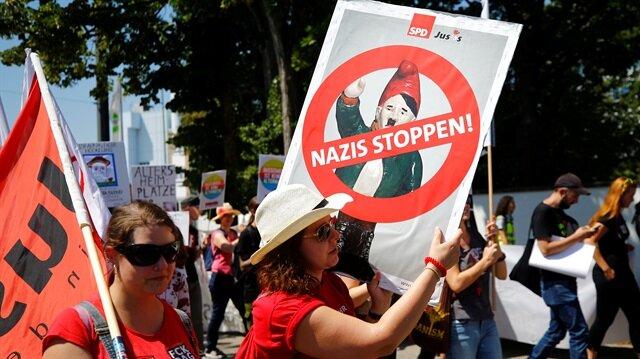 AfD'ye protesto: Naziler dışarı