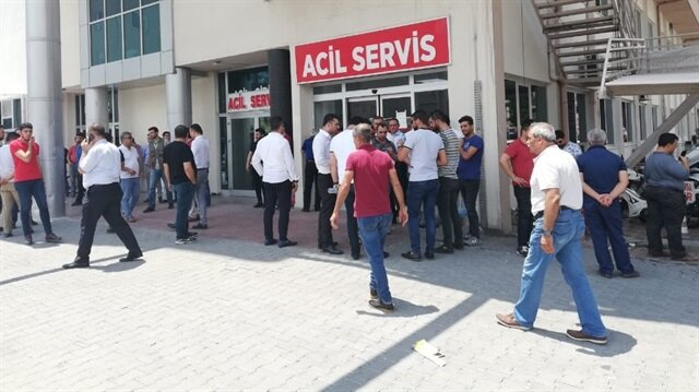 Bacağından yaralanan Başkan Devrim Murat Aksoy, Osmaniye Devlet Hastanesine kaldırıldı.