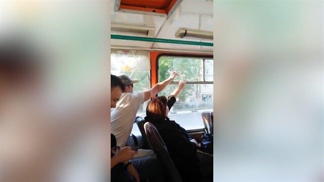 Dünyanın en ilginç otobüs kavgası