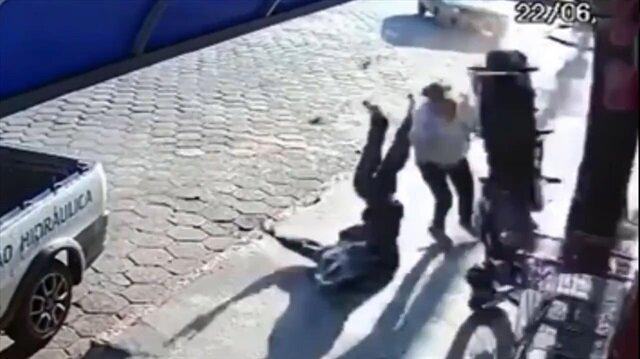 Motosiklet kazasında mucize kurtuluş!
