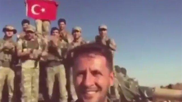 Afrin'de görevli askerden oğluna doğum günü sürprizi