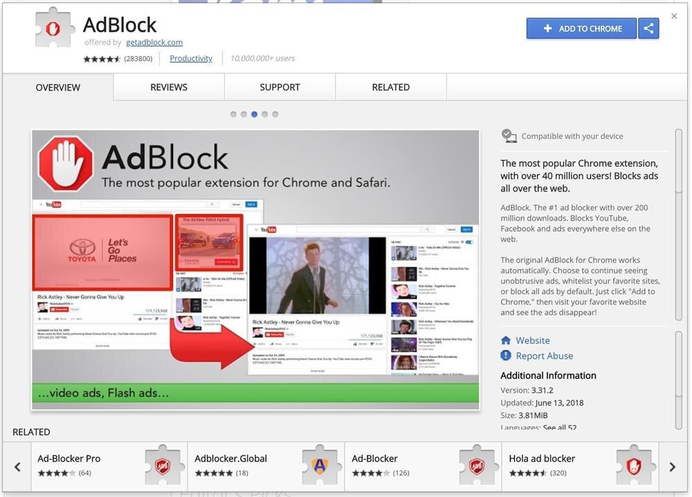 AdBlodk, aşırı rahatsız eden reklamları engellemek için Google Chrome tarafındaki en başarılı uzantılardan biri. Zaten 10 milyonu aşkın kullanıcı sayısı da ne kadar başarılı olduğunu doğrular nitelikte.