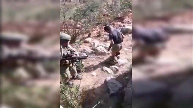 Şırnak'ta teröristin nefes kesen yakalanma anı kamerada!