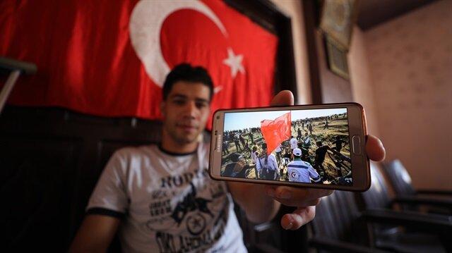 Türk bayrağını düşürmeyen Filistinli: İsrail, Erdoğan'ın kahramanca duruşundan rahatsız