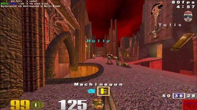 Quake III Arena oyunundan bir ekran görüntüsü.