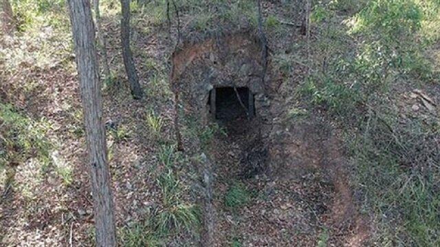 Evin bahçesindeki tünel şoke etti