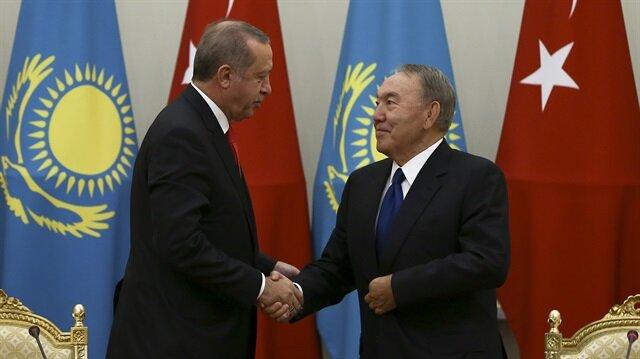 Erdoğan Kazakistan Cumhurbaşkanı ile görüştü