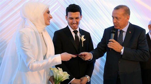 Cumhurbaşkanı Erdoğan, Kültür ve Turizm Bakanı Numan Kurtulmuş'un kızının nikah törenine katıldı