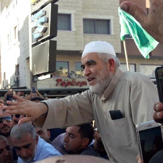 İsrail zindanlarından çıkan Raid Salah'a coşkulu karşılama