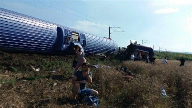 İşte tren kazası sonrası ilk görüntüler